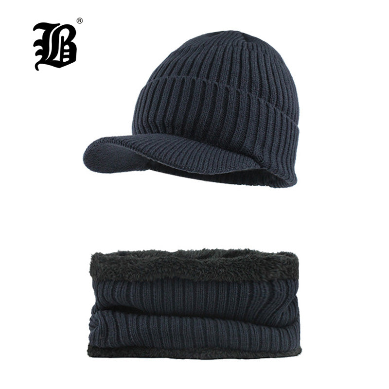 5a9a2f435d2  FLB  Brand bone men s Winter Hat knitted wo beanies men Hip-Hop capTurban  Caps Skullies Balaclava Hats For women gorrosF18026