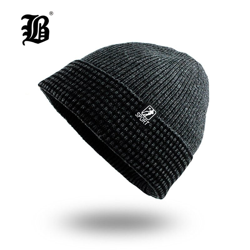 50b91c5a3889 [FLB] Men's Winter Hat Fashion Knitted Black hats Fall Hat Thick and w –  oePPeo - Master of Caps & Hats