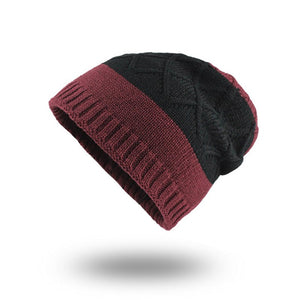 84ebdfe7d00  FLB  Men s winter hat fashion knitted black hats Fall Hat Thick warm and  Bonnet Skullies Beanie Knitted Beanies Cotton F18037