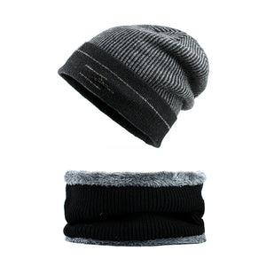 [FLB] Winter Beanie Hat Scarf skullies beanies Soft Skull Warm Baggy Cap Mask Gorros Winter Hats For Men Women Knitted F18042