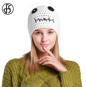 Cute White Winter Hat For Women Beanies Girls Casual Warm Knitted Skullies  Caps Brand Female Ladies 84e2dd3e62c