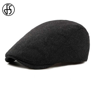 Felt Beret Hat For Women Or Men Autu Winter 2018 New Stylish Black Berets  Flat Cap a8c4436297a