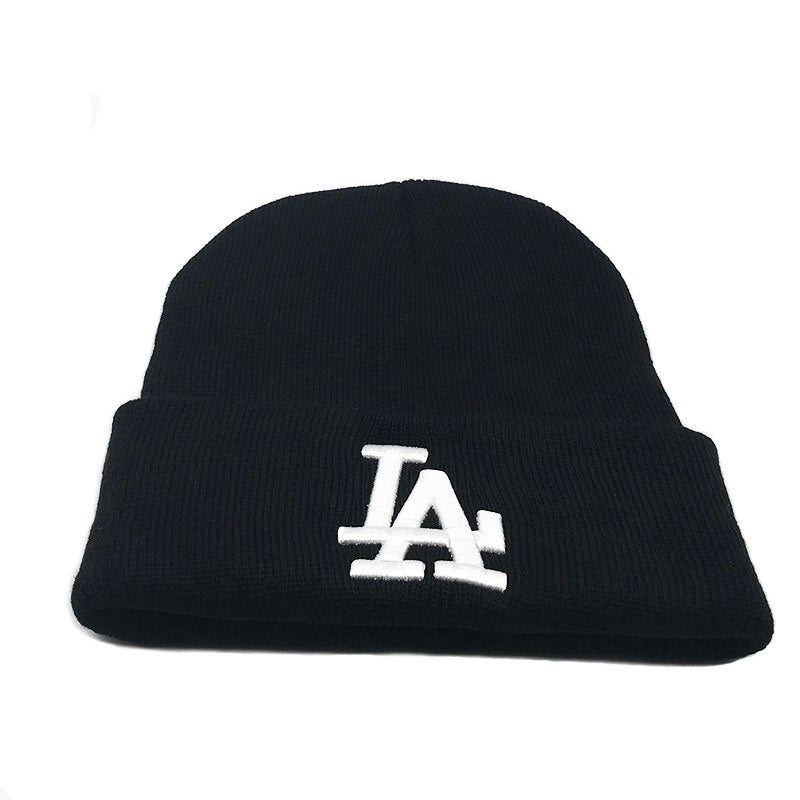 Fashion 3 colors Beanie Hat Letters embroidered LA European Style Fall winter Warm Wo cap Knitted hats For Women Men Beanies