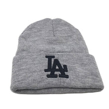 Load image into Gallery viewer, Fashion 3 colors Beanie Hat Letters embroidered LA European Style Fall winter Warm Wo cap Knitted hats For Women Men Beanies