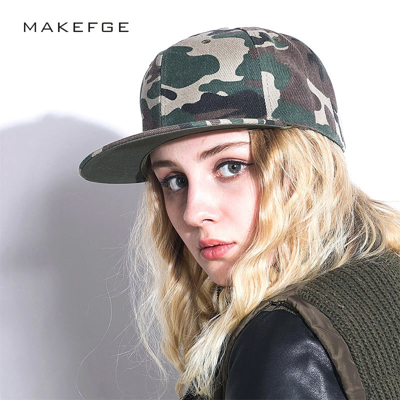 d262613a1 Fashion Camouflage snapback polyester cap blank flat camo baseball cap with  no embroidery mens cap and hat for men and women