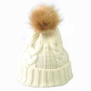 Fashion Faux Fur Knitted Beanies Caps Skullies Winter Hats For Women  Cap Gorro Touca Amazing