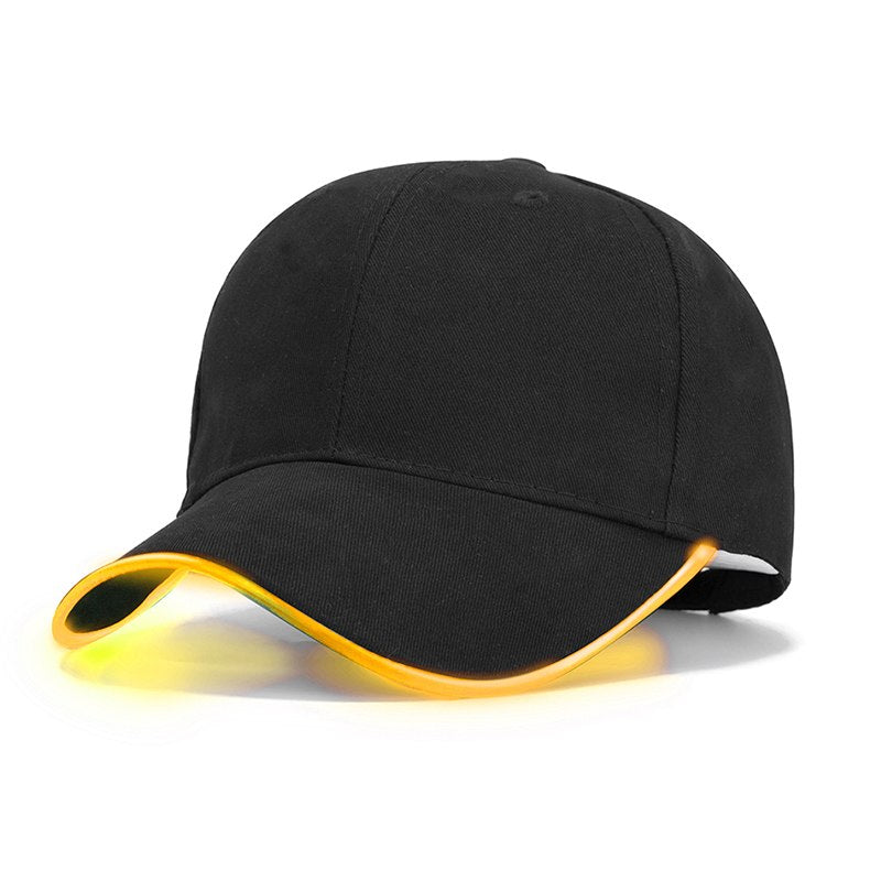 Fashion LED Light Baseball Cap For Women Man LED Hat Brand Female Baseball Cap Women Boys Fitted Hats Glow In The Dark Caps