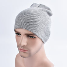 Load image into Gallery viewer, Fashion Men Women Plain Beanie Cheap Knitted Hat Autumn Winter Warm Cap Solid Color Unisex Hip-pop Slouchy Skull Turban Hat