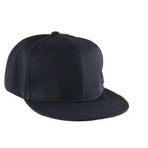 Fashion Plain Blank Men Women Ladies Solid Color Baseball Cap Flat Cap Visor Hat Adjustable Hip Hop Cap