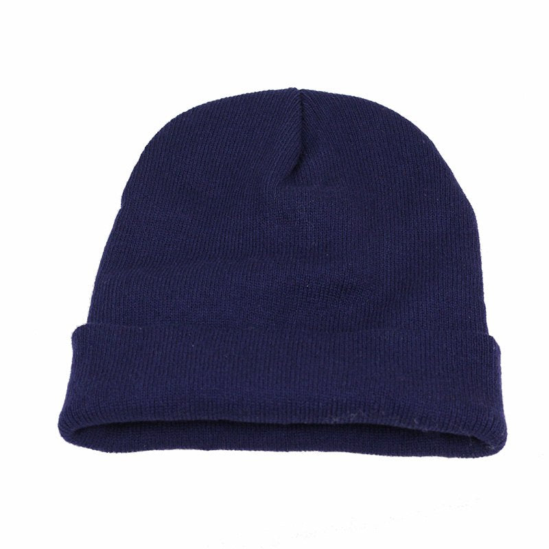 Fashion Simple knitted Cap Autu Winter Skullies Beanie Women Men Couples Stretchy Bonnet Cot Knit Hedging Stocking Hat bone