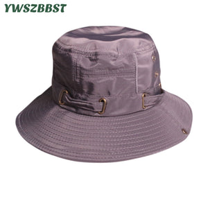 58b937cc3a6 Fashion Summer Sun Hats for Women Men Fisherman Hat Women Sunscreen Caps  Bucket Hat Wide Large Brim Anti-UV Holiday Beach Cap