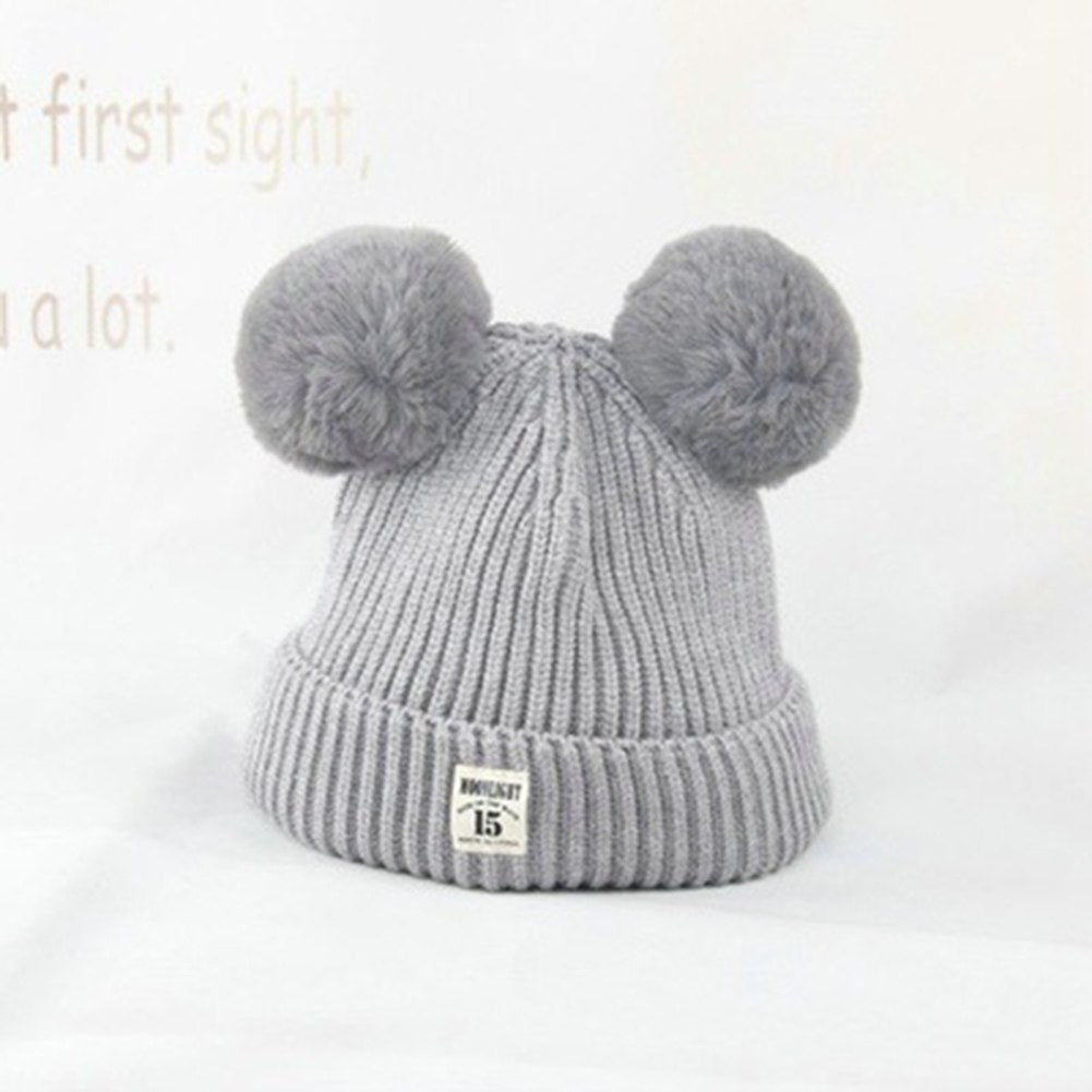 46340a1a896 Fashion Winter Warm Cap Cute Fur Ball Ears Baby Boys Girls Knitted Bea –  oePPeo - Master of Caps   Hats
