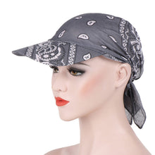 Load image into Gallery viewer, Fashion Womens Visor Hat Sunhat Printed Head Scarf Keep Warm Cap Topee sun hats for women chapeau femme