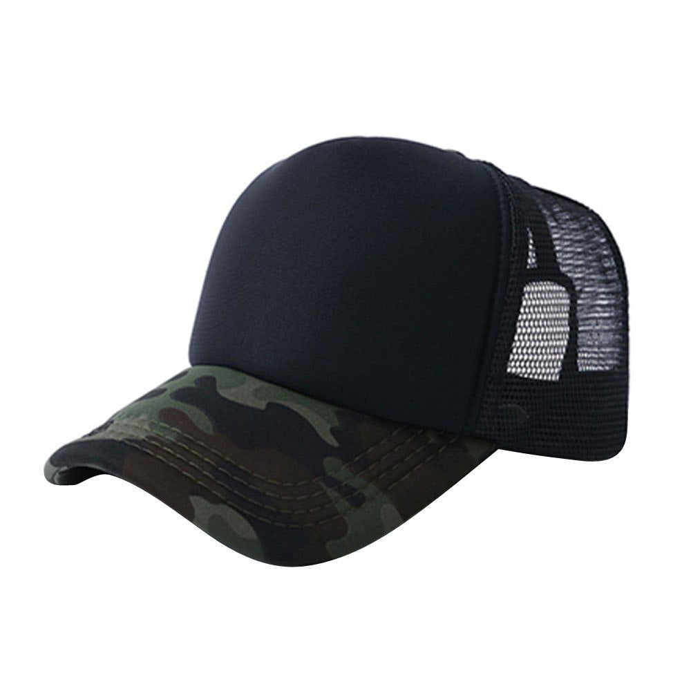 2020 Crystal High Quality Unisex Camouflage Mesh Baseball Cap Hat Blank Visor Hat Adjustable Gift
