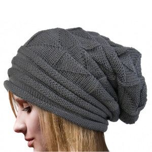 Women Winter Warm Hats Knit Turban Twist Hair Wrap Solid Casual Skullies & Beanies Hat Cap Knit Turban