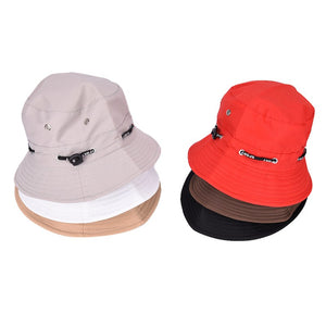 aff61bc8440 Female Male Fisherman Cap Black Red Spring Summer Sun Hat Travel Women Hat  Unisex Flat Cot Bucket Hat For Men Women