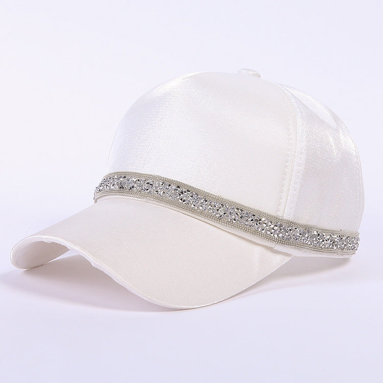 2018 New Summer Women Baseball Cap Hat Rhinestone Belt Travis Scotts Ponytail Snapback Cap