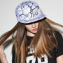 Load image into Gallery viewer, 2018 new brand quality baseball cap print black white men women hats flat brim hip hop hat snapback caps