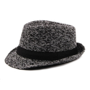 British Style Classic Knit Fedoras Autu Winter Small Jazz Hat Trilby Bowler Hats for Women Men Jewish Hat