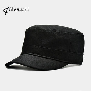 10ae9a4d2 High Quality Black Military Cap Cot Flat Top Men Tactical Army Hat