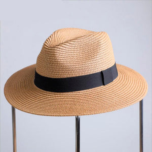 c9b4f09fe97 Free Delivery2018 New Summer Sun Hat For Women Black Ribbon Straw Hat  Fashion Lady Church Caps
