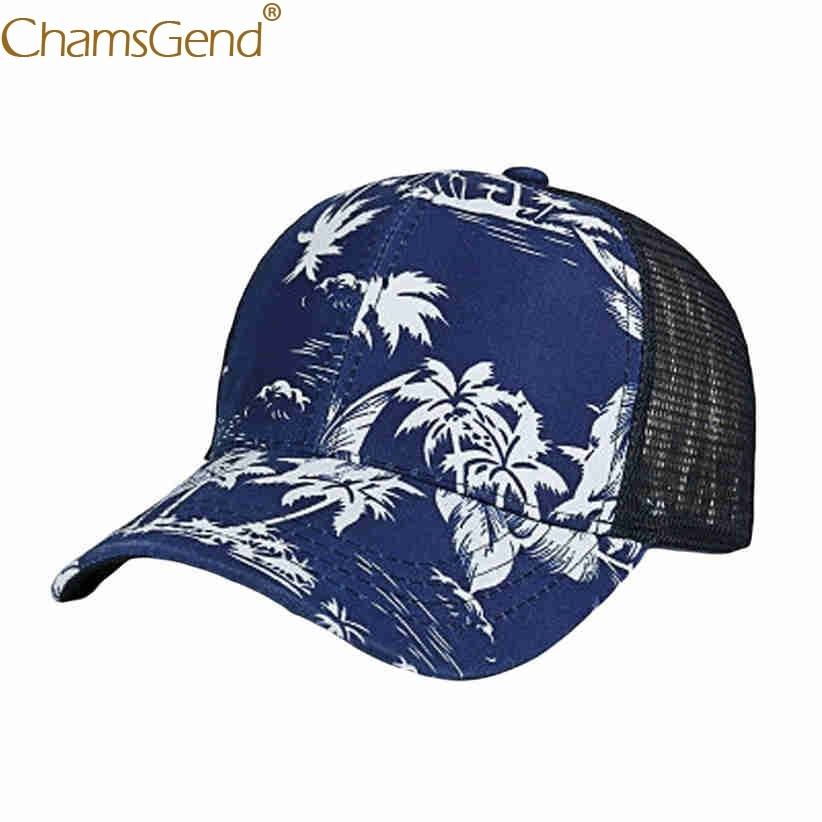 Free Shipping Summer Trees Print Breathable Mesh Baseball Caps Women Men Summer Snapback Hat 80503 Drop shipping