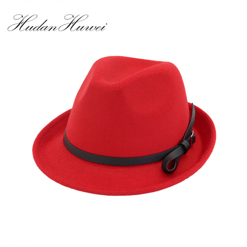 Free Shipping men Fedoras Women's Fashion Jazz hat Summer Spring Black Woolen Blend Cap Outdoor Casual Dancing Hat MNXJS003