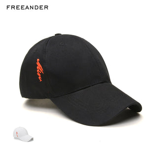 Fashion Baseball Cap Hat White Embroidery Snapback Sports Hats Ponytail Gym  Streetwear Cap Letter Men Caps 47d9fc3e5e0