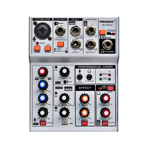 AM-G04A  USB Bluetooth Record Computer Playback 4 Channels Mic Line Insert Stereo Professional Audio Mixer