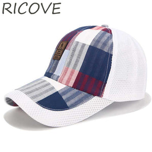 Full Trucker Cap Mesh Baseball Caps Snapback Dad Hat Women Men Plaid Golf Hats Summer Patchwork Outdoor Sports Sun Hat Casual