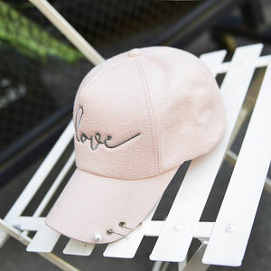 Co Female Baseball Cap Metal Ring Fashion Lady Summer Hat Hip Hop Show Hats Women Shopping Sun Hat Cute Breathable