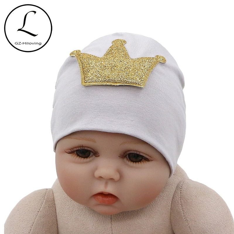 a66342ef3bcb8 New Cute Cot Crown Hat Beanies For Newborn Baby Girls Boys Spring Winter  Soft Infant Toddler Kids Photography Hat