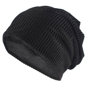 Brand New Unisex Thick Slouchy Beanie Winter Polyester Ribbed Skullies Beanies for Women and Men Balaclava Bonnet Hat