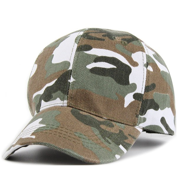 Camouflage Color Baseball Cap  Full Closed Hat Disguise Pretend Army Fans Uniform Sport Hats for Men Women JS189