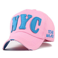 Load image into Gallery viewer, Women's Snapback Cap Brand NYC Baseball Cap for Women Hat Casquette Caps for Men Gorras Hats Full Closed Caps JS008