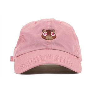 Brand Snapback hat for men Bear Embroidery Baseball Caps fitted cap Solid Color of white khaki Pink Black women hat