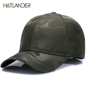 [HATLANDER]Lightweight Breathable solid baseball caps outdoor sports hats polo gorras curved Airy mesh sun hat for men women