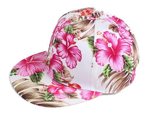 [HEAD BEE] 2018 Baseball Cap Adult Flowers Hip Hop Cap Fashion Leaves Snapbacks Hats For Women and Men