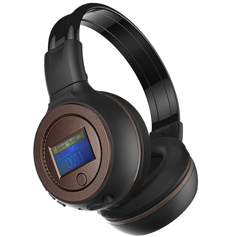 Coffee Color 3.0 Stereo Bluetooth Wireless Headset/Headphones With Call Mic/Microphone  TF card Music Playing BAY17