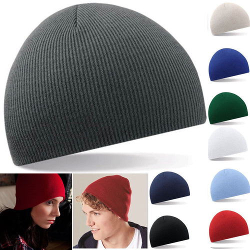 2017 Beanies Plain Knit Ski Hat Skull Cap Cuff Warm Winter Blank Colors Man Women Unisex Beany Fashion