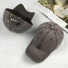 Load image into Gallery viewer, Solid Distressed Vintage Cot Polo Style Baseball Ball Cap Hat 100% Cot NEW Casquette