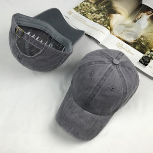 Solid Distressed Vintage Cot Polo Style Baseball Ball Cap Hat 100% Cot NEW Casquette
