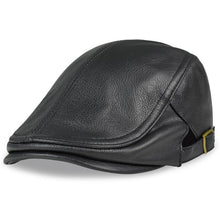 Load image into Gallery viewer, HL046  Men Genuine Leather Newsboy Hat Cap Gatsby Flat Golf Cabbie Baker Beret Retro brand new men's baseball cap
