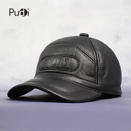 HL062 New  Men's 100% Genuine Leather Baseball Cap /Newsboy /Beret /Cabbie Hat  HatS/brand Hat Caps with fur inside