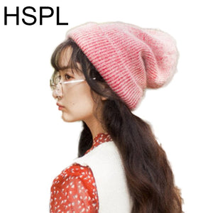 cf58e4853793a Winter Hats For Women Knitted Spring Beanie Hat Fashion 2018 Elegant Knit  Female Off white Stylish