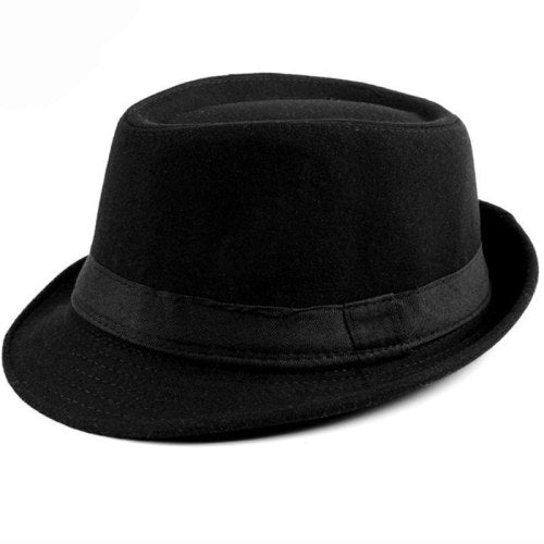 HT1519 Spring Autu Men Women Fedoras Solid Wo Felt Bowler Derby Hat with Black Band British Style Jazz Trilby Hat Fedora Hat