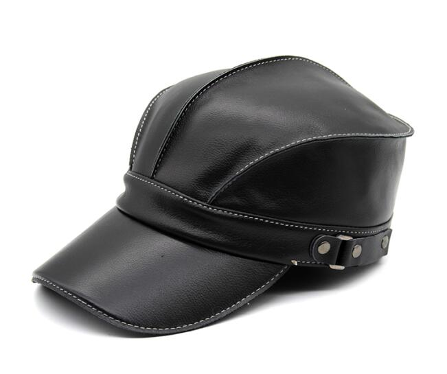 Time-limited Adult Patchwork 2020 Hot Sale Style Both And Genuine Leather Cap Baseball Hat Adjustable Headgear Cs75
