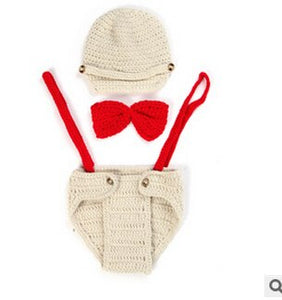 Handmade Baseball Cap Strap Short props for photographs Newborn Hat Babies  Sale Costume Knitted Infant Beanie 58923ae667db