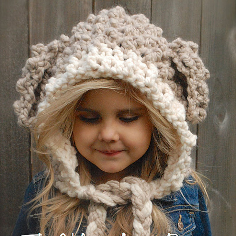 1034bbcc885 Handmade Crochet Kids Lamb Winter Hats Thick Warm Knitted Cartoon Beanies  for Girls and Boys Photo Prop Hat