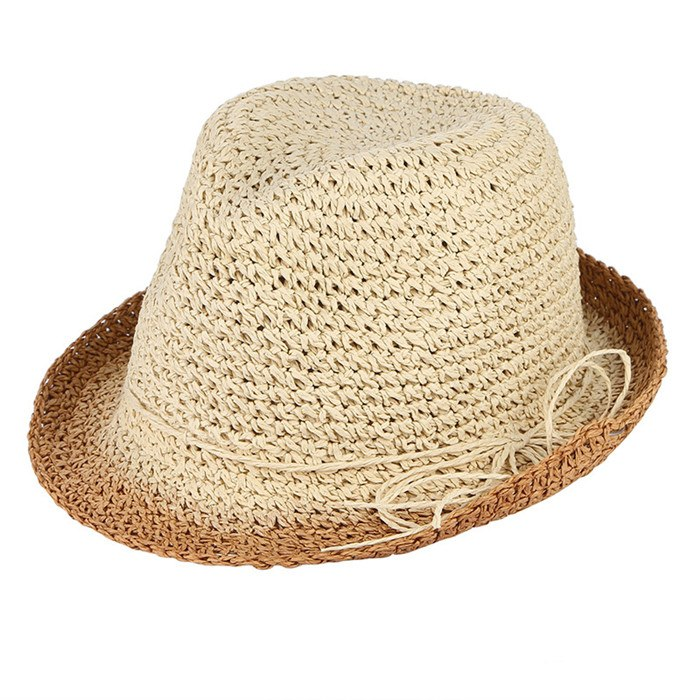 7c52472e55a689 Load image into Gallery viewer, Handmade Crochet Pure Straw Hats Men Summer Sun  Hat Breathable ...